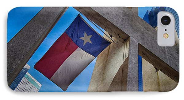 IPhone Case featuring the photograph Texas State Flag Downtown Dallas by Kathy Churchman