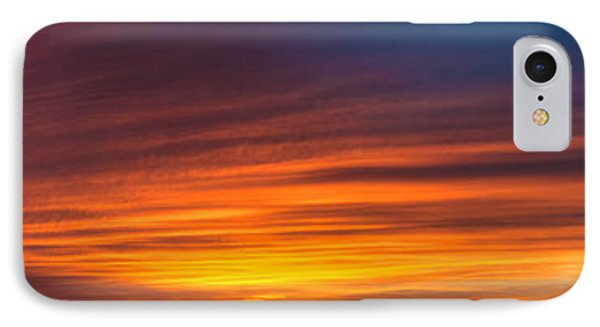 Texas Sunset Panorama IPhone Case by Richard Mason