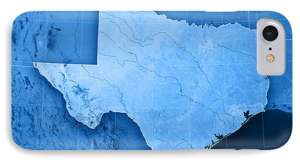 Texas Topographic Map IPhone Case by Frank Ramspott