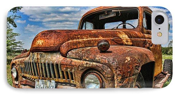 Texas Truck IPhone Case by Daniel Sheldon