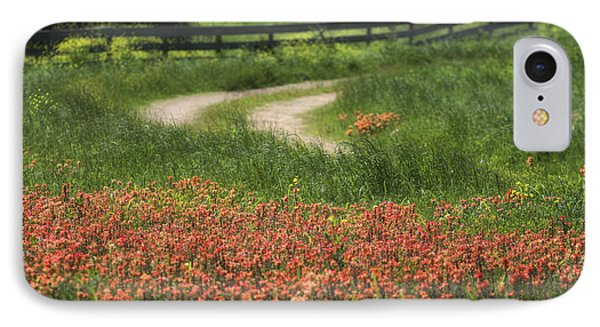Texas Wildflowers  IPhone Case by Richard Mason