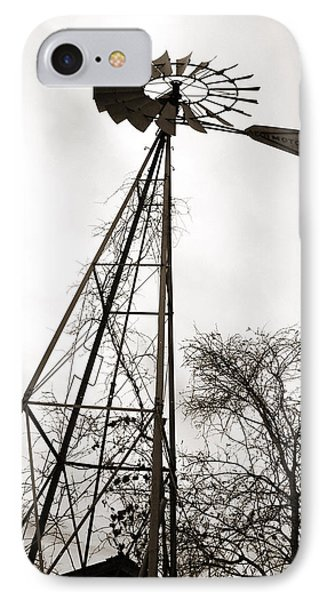 Texas Windmill Phone Case by Marilyn Hunt