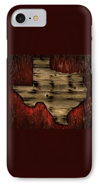 Texas Wood IPhone Case by Darryl Dalton
