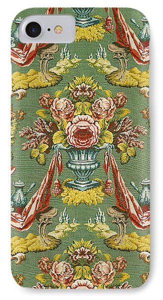 Textile With A Repeating Floral Motif, Lyon Workshop, Circa 1730 Silk Brocade IPhone Case