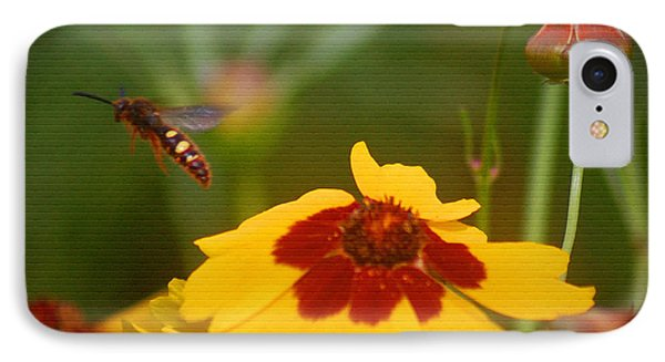 IPhone Case featuring the photograph Textured Bee by Leticia Latocki