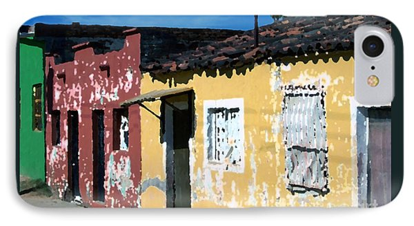 Textured - City In Mexico IPhone Case by Gena Weiser