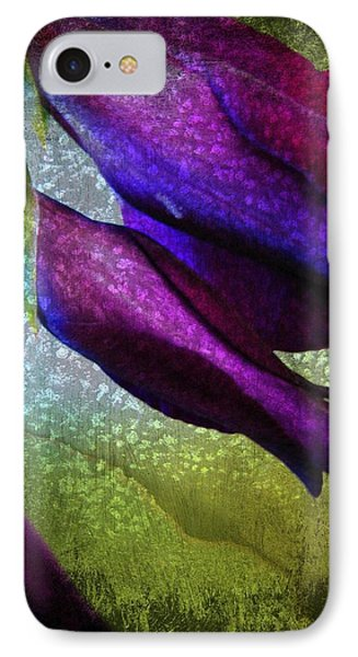 Textured Gladiola Buds Phone Case by Shirley Sirois