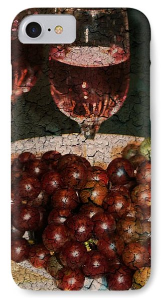 Textured Grapes IPhone Case by Barbara S Nickerson