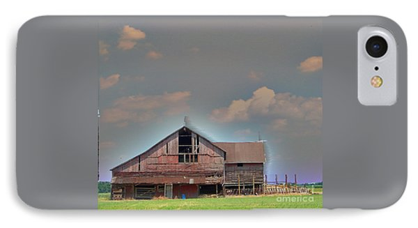 IPhone Case featuring the photograph Textured - Grey Barn by Gena Weiser