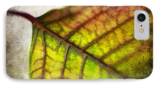 Textured Leaf Abstract Phone Case by Scott Pellegrin