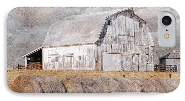 Textured Missouri Barn  IPhone Case by Liane Wright