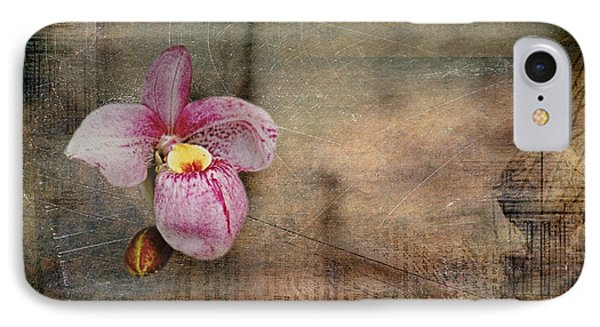 IPhone Case featuring the photograph Textured Orchid by Vicki DeVico