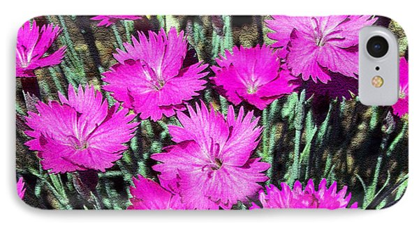 IPhone Case featuring the photograph Textured Pink Daisies by Gena Weiser