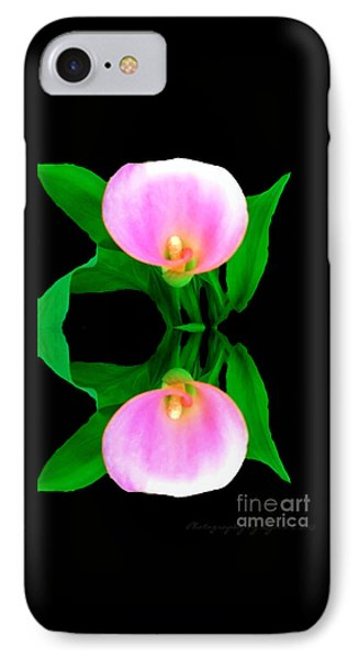 IPhone Case featuring the photograph Textured - Pink Lily by Gena Weiser