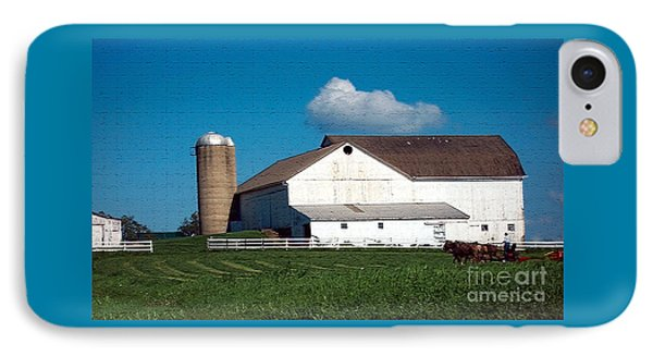 IPhone Case featuring the photograph Textured - Plowing The Field by Gena Weiser