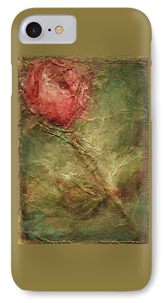 IPhone Case featuring the painting Textured Rose Art by Mary Wolf