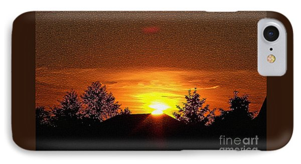 IPhone Case featuring the photograph Textured Rural Sunset by Gena Weiser