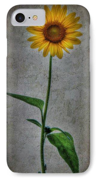 Textured Sunflower 1 Phone Case by Lori Deiter