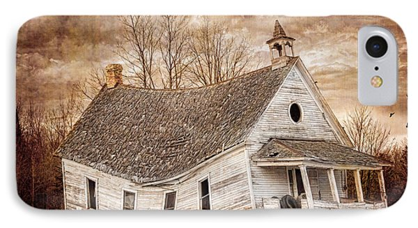 Textured Sway Back School House IPhone Case by Paul Freidlund