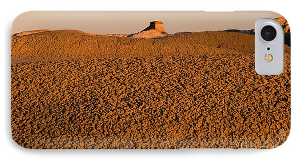 Textures In The Bisti Wilderness Phone Case by Vivian Christopher