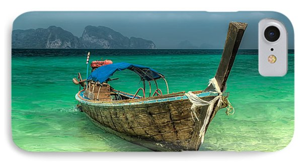 Thai Boat  IPhone Case by Adrian Evans