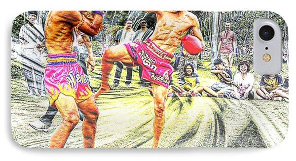 Thai Kick Boxing IPhone Case by Ian Gledhill