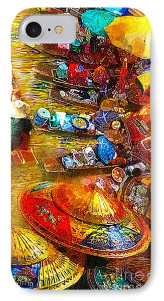 Thai Market Day IPhone Case by Mo T