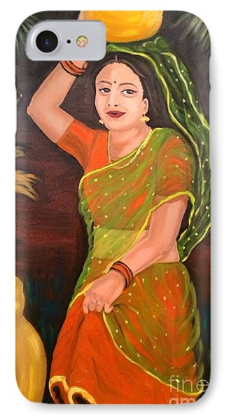 IPhone Case featuring the painting Thamizhachi by Brindha Naveen