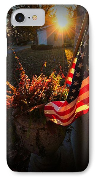 IPhone Case featuring the photograph Thank You For Serving by Robert McCubbin