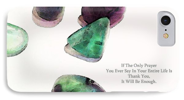 Thank You - Gratitude Rocks By Sharon Cummings IPhone Case by Sharon Cummings