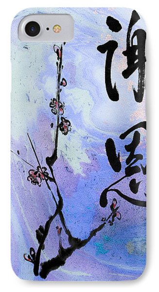 IPhone Case featuring the mixed media Thank You Shaon Gratitude by Peter v Quenter