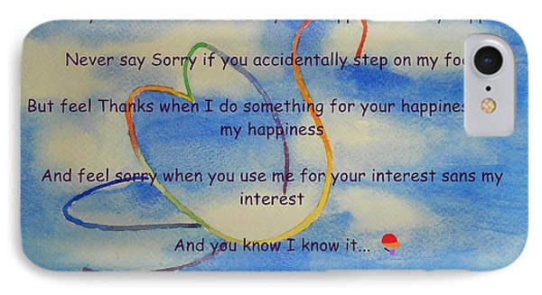 IPhone Case featuring the painting Thanks And Sorry by Geeta Biswas