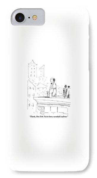 Thanks, New York.  You've Been A Wonderful IPhone Case by Richard Cline