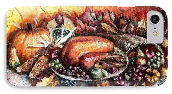 Thanksgiving Dinner IPhone Case by Shana Rowe Jackson