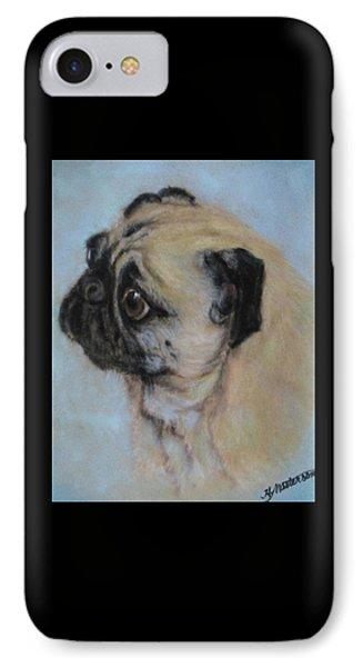 Pug's Worried Look IPhone Case by Harriett Masterson