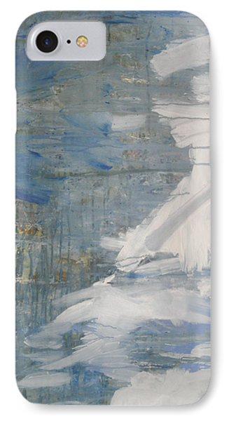 IPhone Case featuring the painting Thaw Water Ice Abstraction by John Fish
