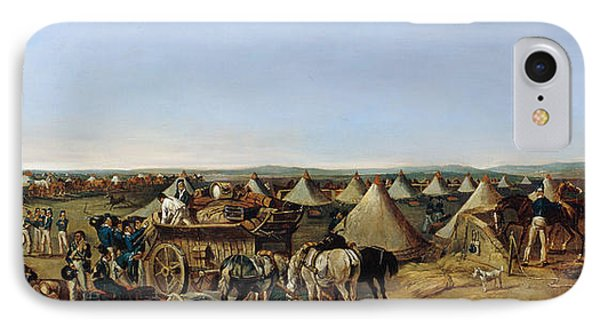The 10th Regiment Of Dragoons Arriving Phone Case by A.E. Eglington