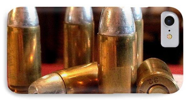 Bullet Art 32 Caliber Hollow Point Bullet 1 Phone Case by Lesa Fine