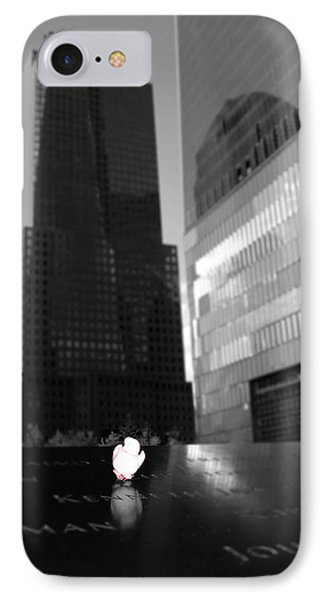 The 911 Memorial In Black And White IPhone Case