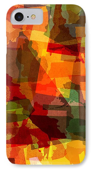 The Abstract States Of America IPhone Case