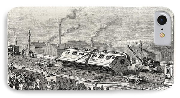 The Accident To The Flying Scotchman, Near Sheffield IPhone Case