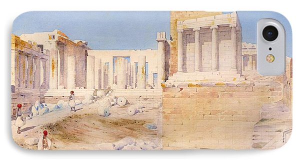 The Acropolis At Athens, 1844 Wc On Paper IPhone Case