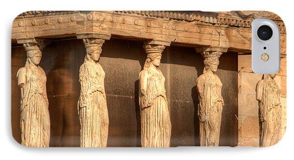 The Acropolis Caryatids Phone Case by Deborah Smolinske