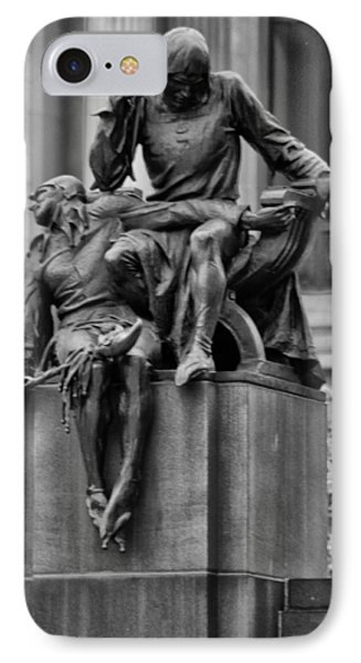 The Actor Statue Philadelphia Phone Case by Bill Cannon