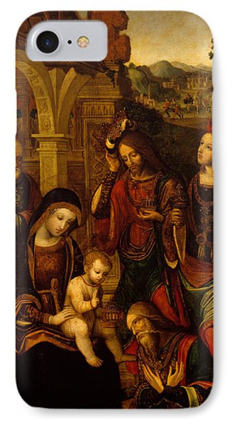 The Adoration Of The Kings IPhone Case by Neapolitan School
