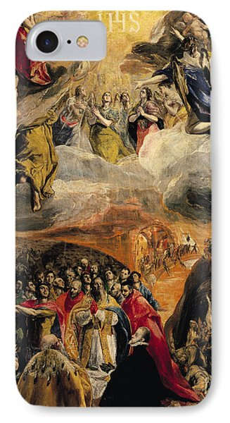 The Adoration Of The Name Of Jesus IPhone Case by El Greco Domenico Theotocopuli