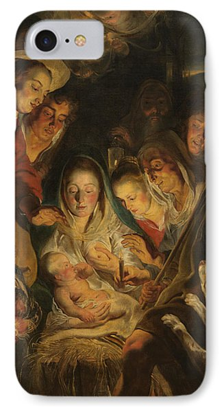 The Adoration Of The Shepherds Phone Case by Anonymous