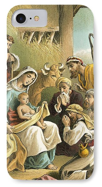 The Adoration Of The Shepherds Phone Case by English School