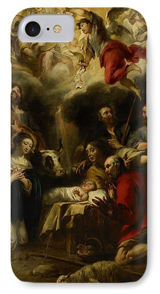 The Adoration Of The Shepherds Phone Case by Jan Cossiers