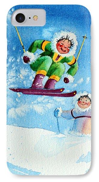 The Aerial Skier - 10 Phone Case by Hanne Lore Koehler